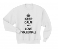 keep calm and lov volleyball biała.png