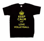 Koszulka z nadrukiem KEEP CALM AND LOVE VOLLEYBALL siatkówka