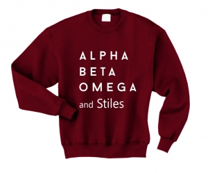 Bluza ALPHA BETA OMEGA AND STILES teen wolf