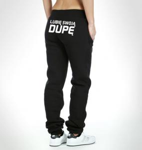 c5da2c927d09 Spodnie dresowe z nadrukiem  z napisami dresy damskie SHOCK share block