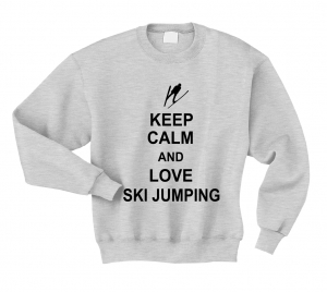 Bluza KEEP CALM AND LOVE SKI JUMPING skoki narciarskie
