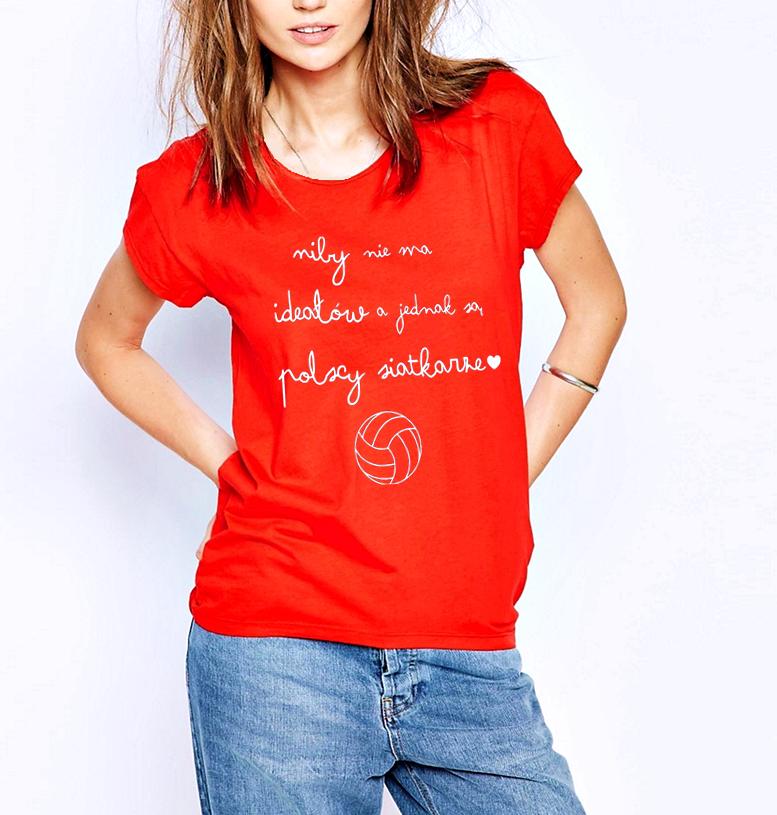 342c4cea5e359d ... Koszulka siatkarska - bluzka dla fanów siatkówki i polskich siatkarzy - modna  koszulka kibicia siatkówki damska · Koszulka POLSCY SIATKARZE ...