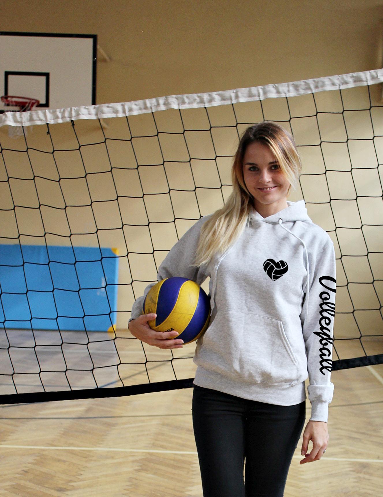 6861136c2 Bluza z kapturem damska VOLLEYBALL piłka siatkówka BLUZY Z NADRUKIEM ...