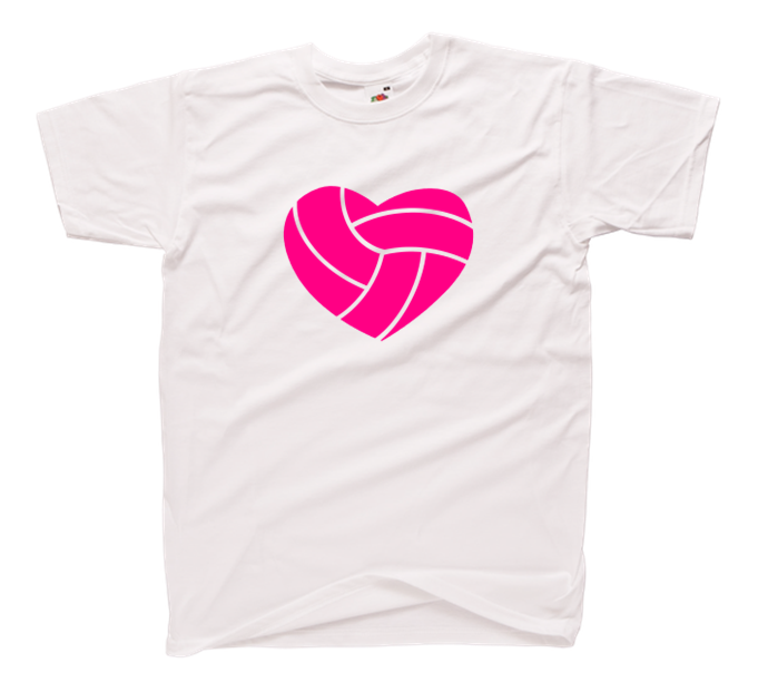 9d23394257f0ce ... Modna damska koszulka siatkarka z nadrukiem piłka siatkówka serce -  pomysł na prezent dla fanki siatkówki · volleyball heart tsh.png