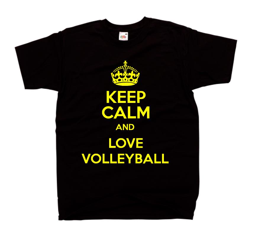 f4401bb0c57832 Koszulka keep calm and love volleyball - bluzka SIATKÓWKA dla kibica - modna  bluzka z nadrukiem ...