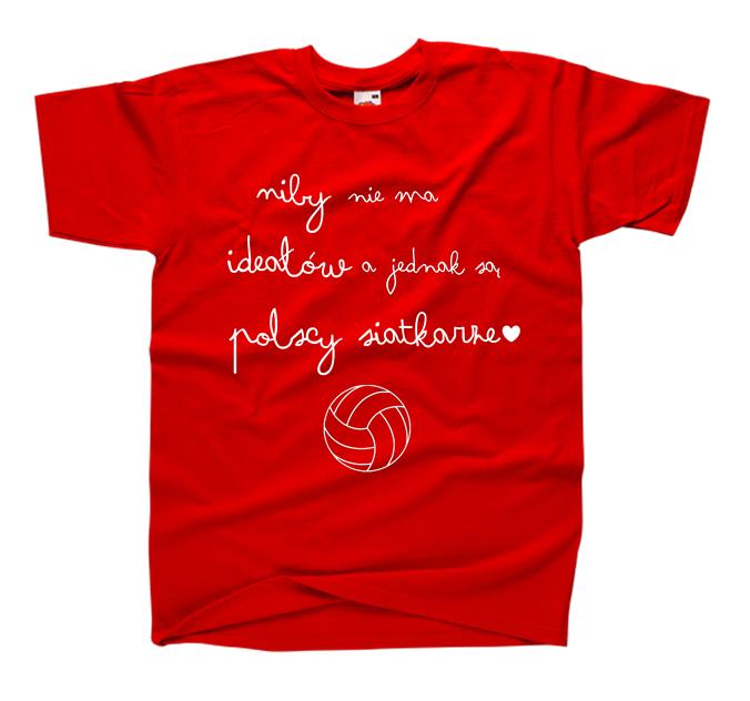 8784e3b1e Śmieszna koszulka dla kibica siatkówki ; modna bluzka dla fanki siatkówki i  siatkarzy z nadrukiem NIBY ...